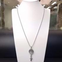 Chrome Hearts-002 克羅心古典錢幣吊十字架明星同款男女均可佩戴項鏈