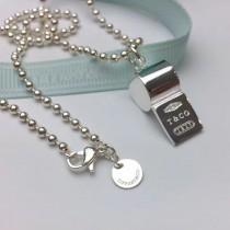 Tiffany & Co-01 蒂芙尼316剛鍍925純銀工藝打造時尚口哨項鏈