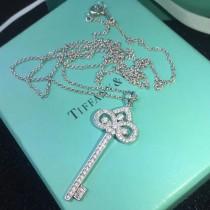 Tiffany & Co-02 蒂芙尼經典亞金鍍18K金工藝鳶尾鑰匙長款項鏈