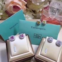 Tiffany & Co-010 克拉方鉆套裝S925純銀鑲嵌AAAA級進口鋯鉆愛戀耳釘