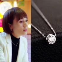 Tiffany & Co-008 蒂芙尼我的前半生唐晶同款S925純銀時尚百搭50分鑽石單鉆項鏈
