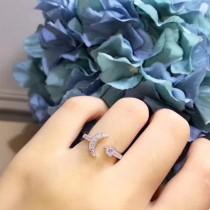 Tiffany & Co-005 新款S925純銀精工版開口不分大小網紅最愛款月亮戒指
