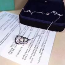 Tiffany & Co-004 經典1837火爆經典款原版925純銀百搭休閒款雙環項鏈
