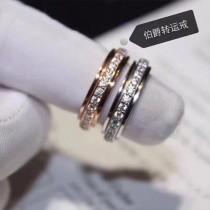 PIAGET-0100 伯爵窄版925純銀轉運鑲鑽戒指