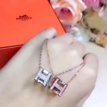 Hermes-00006 愛馬仕S925純銀精工版網紅最愛款工字小項鏈