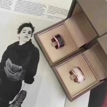 BVLGARI-0102 寶格麗專櫃經典款925純銀陶瓷情侶裝戒指
