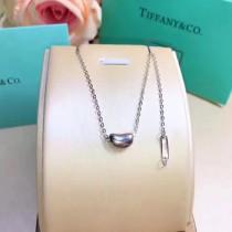 Tiffany & Co-013 蒂芙尼S925純銀實心雙吊牌尾鏈豆豆mini項鏈