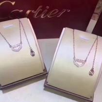 Cartier-0105 卡地亞歡樂頌2安迪同款S925純銀大方簡約心形項鏈