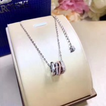 SWAROVSKI-0003 施華洛世奇S925純銀鍍白金鑲仿水晶鋯石白金色轉運珠系列項鏈