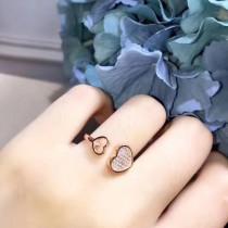 Chopard-001 肖邦S925純銀 時尚潮流百搭款新款 滿鑽開口戒指