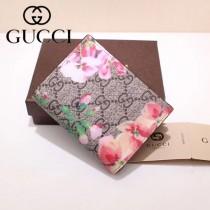 GUCCI 424896-7 輕便小巧天竺葵PVC配進口牛皮短款兩折零錢包