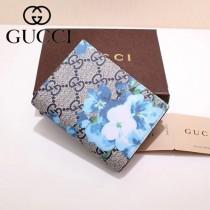 GUCCI 424896-8 輕便小巧天竺葵PVC配進口牛皮短款兩折零錢包