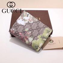 GUCCI 424896-5 輕便小巧天竺葵PVC配進口牛皮短款兩折零錢包