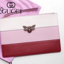 GUCCI-476077-2 瑪格麗特皇后驚艷華麗高貴蜜蜂裝飾玻璃珠彩色水晶手包