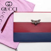 GUCCI-476077 瑪格麗特皇后驚艷華麗高貴蜜蜂裝飾玻璃珠彩色水晶手包