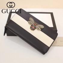 GUCCI-476069 Gucci專櫃新款撞色小蜜蜂拉鏈錢包