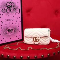 GUCCI-476433 Gucci新款GG Nano原版小牛皮女士斜挎包