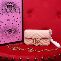 GUCCI-476433-2 Gucci新款GG Nano原版小牛皮女士斜挎包
