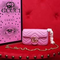 GUCCI-476433-4 Gucci新款GG Nano原版小牛皮女士斜挎包