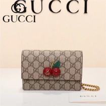 GUCCI-481291 Gucci專櫃新款時尚潮流櫻桃款女士單肩斜挎包