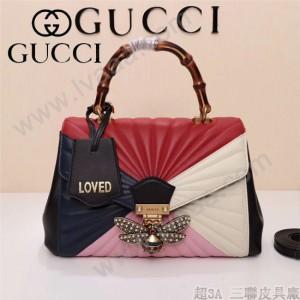 GUCCI-476531-2 專櫃最新頂級原單GG新款瑪格麗特女士手袋