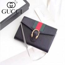 GUCCI-481377 Gucci專櫃最新款標誌性織帶時尚潮流酒神小包