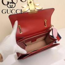 GUCCI-476541-2 瑪格麗特皇后撞色系列紅白藍色寬肩帶復古時髦手提單肩斜挎包