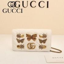 GUCCI-488426-2 Gucci原單小牛皮蝴蝶系列女士斜背包