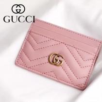 GUCCI-11102 Gucci新品精緻超薄雙G柏良文復古金屬五金原單品質小卡包卡夾