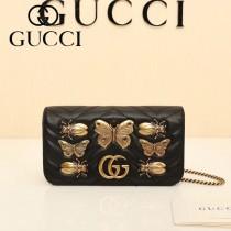 GUCCI-488426 Gucci原單小牛皮蝴蝶系列女士斜背包