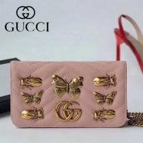 GUCCI-488426-4 Gucci原單小牛皮蝴蝶系列女士斜背包