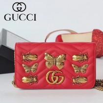 GUCCI-488426-3 Gucci原單小牛皮蝴蝶系列女士斜背包