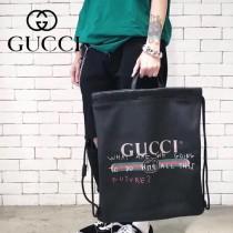 GUCCI-494053 Gucci和西班牙藝術家coco  capitan 聯名合作進口牛皮塗鴉手提雙肩背包
