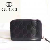 GUCCI-11103 Gucci新品全牛皮壓花時尚潮流卡包
