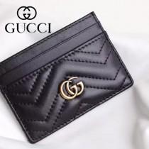 GUCCI-11102-4 Gucci新品精緻超薄雙G柏良文復古金屬五金原單品質小卡包卡夾