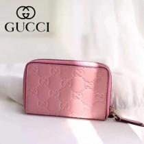 GUCCI-11103-2 Gucci新品全牛皮壓花時尚潮流卡包
