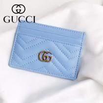GUCCI-11102-3 Gucci新品精緻超薄雙G柏良文復古金屬五金原單品質小卡包卡夾