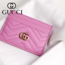 GUCCI-11102-2 Gucci新品精緻超薄雙G柏良文復古金屬五金原單品質小卡包卡夾