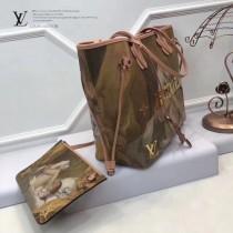 LV M43319 專櫃限量版大師系列neverfull原單少女與狗油畫印花中號購物袋內置小包