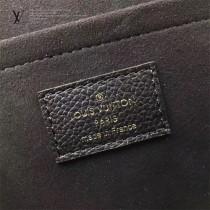 LV M43392-4 時尚休閒SAINT SULPICE原單黑色全皮壓花小號鏈條手袋