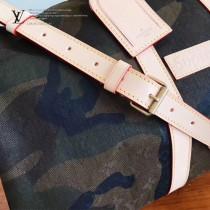 LV M43466 頂級定制Supreme Keepall 45cm原單迷彩牛仔布旅行袋