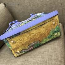 LV M43378 櫥窗限量版大師系列MONTAIGNE原單麥田和柏樹油畫印花中號手袋