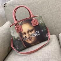 LV M43379 櫥窗限量版大師系列MONTAIGNE原單蒙娜麗莎油畫印花中號手袋