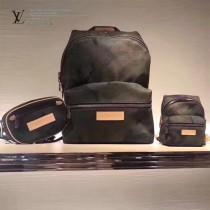 LV M44202 精緻supreme限量合作款原單迷彩牛仔布MINI雙肩包包掛件