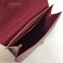 LV M43392 時尚休閒SAINT SULPICE原單藕粉色全皮壓花小號鏈條手袋
