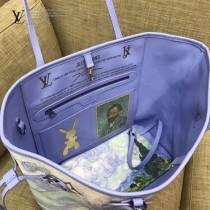 LV M43331 專櫃限量版大師系列neverfull原單麥田和柏樹油畫印花中號購物袋內置小包