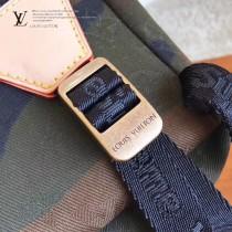 LV M44200 休閒風格supreme限量合作款原單迷彩牛仔布雙肩包書包