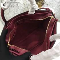 LV M43433-5 專櫃最新品POPINCOURT原版棗紅色皮配老花手提單肩包