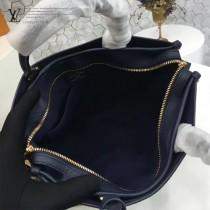 LV M43433-2 專櫃最新品POPINCOURT原版寶藍色皮配老花手提單肩包