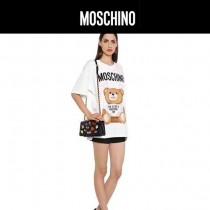 Moschino-052 潮流可愛徽章設計翻蓋單肩斜挎包晚宴包